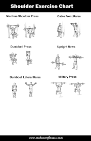 Biceps Exercise Chart Printable Shoulder Exercise Chart