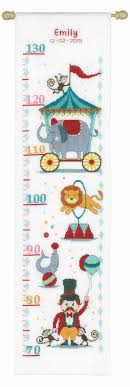 Cross Stitch Height Chart Kit Circus Height Chart Cross Stitch Kit By Vervaco