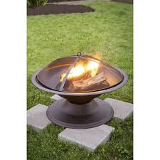 steel 29 5 outdoor camping fireplace backyard deck patio wood burning fire pit