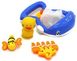 verzabo blue whale scoop net bathtub bath toy set for 12 months plus babies quality advantage 25769