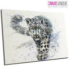 image is loading a806 blue watercolour snow leopard animal canvas wall  on snow leopard canvas wall art with a806 blue watercolour snow leopard animal canvas wall art framed