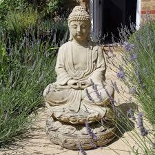 large garden sculpture meditation buddha stone statue