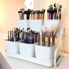 the makeup organizer is from ikea and is called socker pot with holder by iriscillale