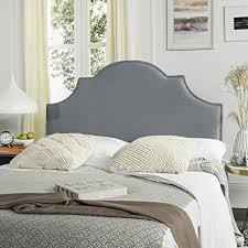blue upholstered headboard. Contemporary Blue Safavieh Hallmar Sky Blue Upholstered Arched Headboard  Silver Nailhead  Queen For E