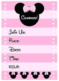 Free Online Birthday Invitations To Email Minnie Mouse Electronic Invitations Budet Pro