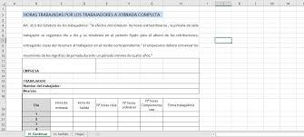 Control Horario Plantillas Y Programas Para El Registro De