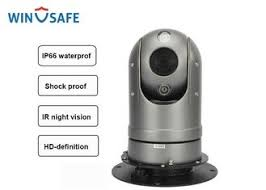 Black IP HD Mini Vehicle Rugged PTZ <b>Camera</b> Dome Onvif ...