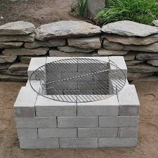 super easy cinder block firepit easy diy fire pit area i68 area