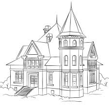 House Coloring Pages Raovat24hinfo