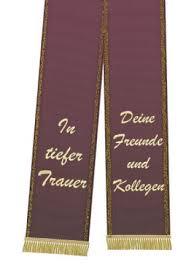 Trauerband Bedruckt 125mm X 75cm Aubergine Kaufen In Schweiz