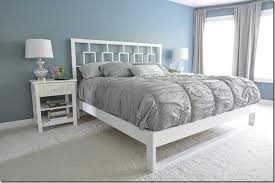 simple white bed frame. Fine Simple DIY Bed Frame Tutorial To Simple White O
