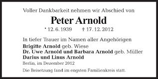 Traueranzeigen von Peter Arnold | Tagesspiegel Trauer