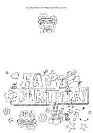 black and white printable birthday cards printable birthday cards to color findmesomewifi com
