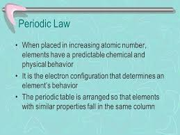 The Periodic Table Chapter 5 Why is the Periodic Table important ...