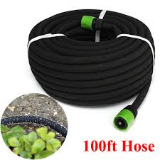 100ft garden lawn porous soaker hose watering water pipe drip irrigation tool