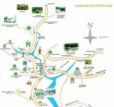 munnar tourist map  tourist attractions in munnar  attractions