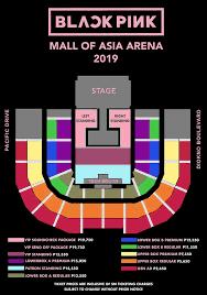 blackpink live in manila seatplan blackpink 2019 world tour