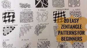 Zentangle Patterns For Beginners Interesting 48 Easy Zentangle Patterns For Beginners To Start Off Zentangling