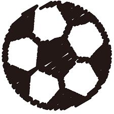 サッカーボールクレヨン風 無料イラスト素材素材ラボ