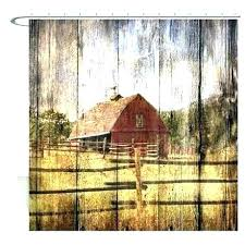 cabin shower curtains rustic farm red barn curtain log hooks lake cottage