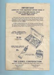 Lionel Traction Tire Chart Details About Lionel Lubricant Instructions 926 26 4 50 Tt Original