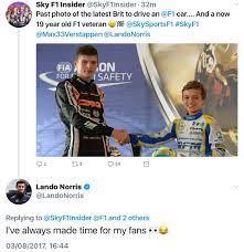Lando Norris with some Twitter banter : formula1