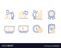 Euro Currency Usd Coins And Bitcoin Project Icons
