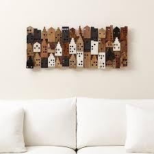 on rectangular wooden wall art with village rectangular wall art reviews crate and barrel