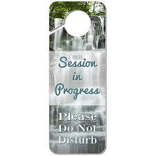Session In Progress Please Do Not Disturb Multiple Waterfalls