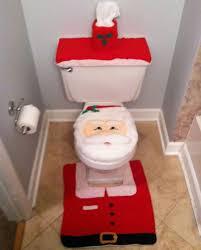 santa toilet cover and rug set