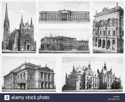 architectural drawings of famous buildings. Unique Drawings Famous Vintage Buildings From Leipzig City Germany  Stock Image Intended Architectural Drawings Of Buildings H