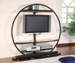 black glass metal tv stand