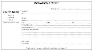 Church Donation Form Template Receipt Sample Awesome Example