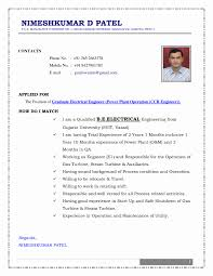 Best Resume Samples For Freshers Engineers Electrical Project Engineer Resume Sample Elegant Resume format for 22