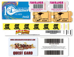 Family Entertainment Center Ticket Printing National Ticket