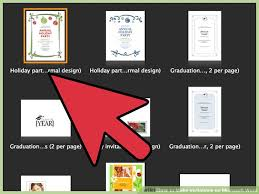 How To Create Invitations On Word How To Make Invitations On Microsoft Word 10 Steps