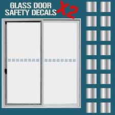 glass door hazard protection decal