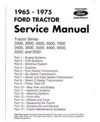 amazon com 1965 1975 ford tractor 2000 7000 service manual book 1965 1975 ford tractor 2000 7000 service manual book
