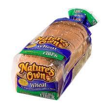 nature s own double fiber wheat best bread