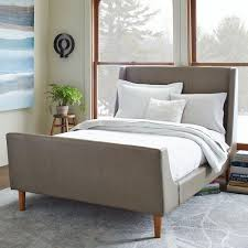 upholstered leather sleigh bed. Grey Leather Sleigh Bed Upholstered T