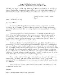 Termination Of Tenancy Letter From Landlord Sample Lease Termination