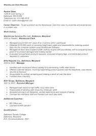 Warehouse Clerk Resume Cool Warehouse Stocker Resume Examples Fruityidea Resume