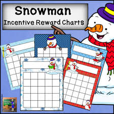 Winter Incentive Charts Reward Sticker Worksheets Teaching Resources Tpt
