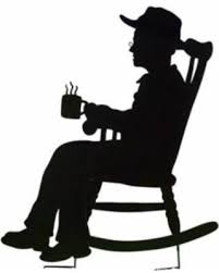 rocking chair silhouette. Simple Silhouette Charming Rocking Chair Shadow Figure Yard Stakes Grandpa Silhouette  Stakes Features Grandma Reads A  With