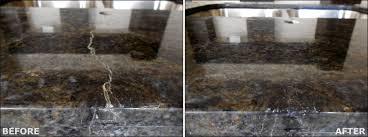 countertop granite repair before after