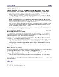 Resume Marketing Project Manager Resume For Study
