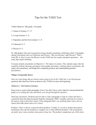 Tips For The Taks Test Taks Objective 10th Grade 11th Grade 1