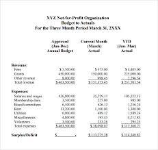 9 Non Profit Budget Templates Word Pdf Excel