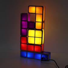 Buy Tetris Light Details About Diy Tetris Puzzle Colorful Led Night Light Retro Game Stackable Romantic Lamp