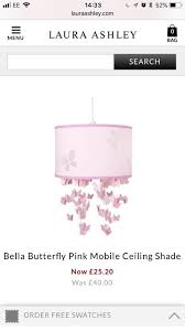 laura ashley bella erfly range rollerblind ceiling shade and wallpaper